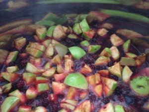 blackberries & apples