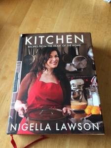 Nigella's book on my kitchen table