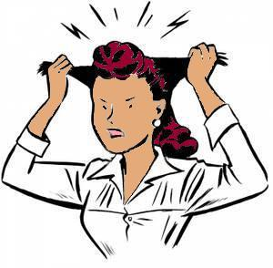 woman-pulling-hair-out-clip-art-68089